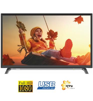 """טלוויזיה 40"""" LED Full HD TV 200 Hz AMR תוצרת TOSHIBA דגם 40L3650"""