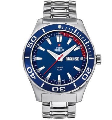 שעון יד כרונוגרף לגבר עשוי פלדת אל חלד תוצרת SWISS MILITARY שוויץ דגם SM3401702