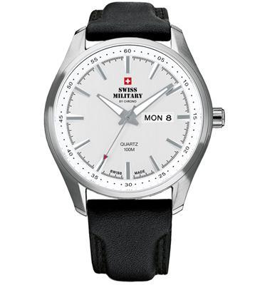שעון יד כרונוגרף לגבר עשוי פלדת אל חלד תוצרת SWISS MILITARY שוויץ דגם SM3402706
