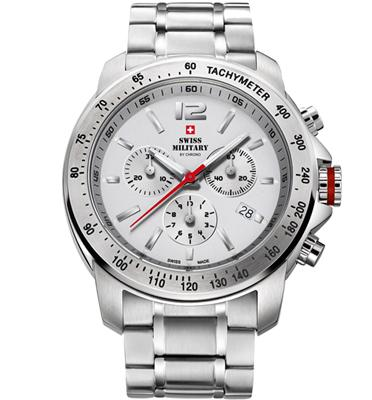 שעון יד כרונוגרף לגבר עשוי פלדת אל חלד תוצרת SWISS MILITARY שוויץ דגם SM3403302