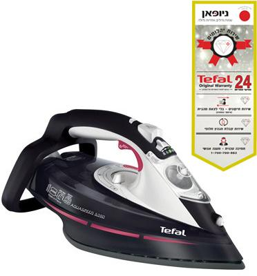 מגהץ אדים 2600 וואט AQUA SPEED ALL BLACK תוצרת Tefal דגם FV 5390