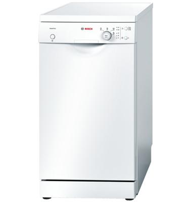 """מדיח כלים צר 45 ס""""מ הדור החדש! Active Water ל 9 מערכות כלים בצבע לבן תוצרת בוש דגם SPS40E82EU"""