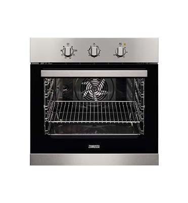 תנור אפיה בנוי נפח תא 74 ליטר בגימור נירוסטה תוצרת ZANUSSI דגם ZOB32707XK