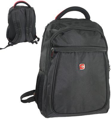 """תיק גב SWISS איכותי למחשב נייד """"15 מבית WEIBIN דגם 3152 בצבע שחור"""