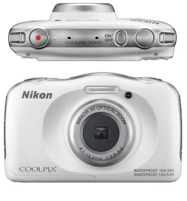 מצלמה דיגיטלית קומפקטית העמידה למים 13.2MP מבית NIKON דגם COOLPIX W100
