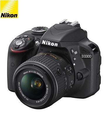 מצלמת DSLR מקצועית 24.2MP  חיישן CMOS + עדשות 18-55VR+70-300VR מבית NIKON דגם D3300