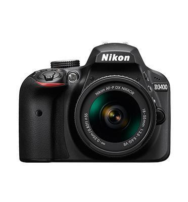 """מצלמה DSLR מסך 3"""" 24.2MP + עדשה 18-55AF-PVR מבית NIKON דגם D3400"""