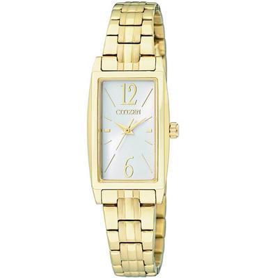 שעון יד אלגנטי מוזהב לאישה עשוי פלדת אל חלד ועמיד במים מבית CITIZEN דגם CI-EX030251A