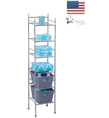 מתקן אחסון למקלחת 6 קומות עשוי מתכת עמידה ואיכותית מבית honey can do דגם bth-03484