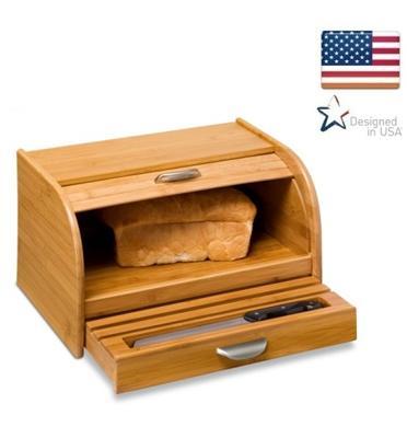 ארגז לחם איכותי מבמבוק איכותי לשמירת הטריות לאורך זמן מבית honey can do דגם KCH-01081