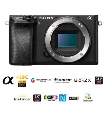 מצלמת סטילס דיגיטאלית ללא מראה מסדרת אלפה מבית SONY דגם ILC-E6300