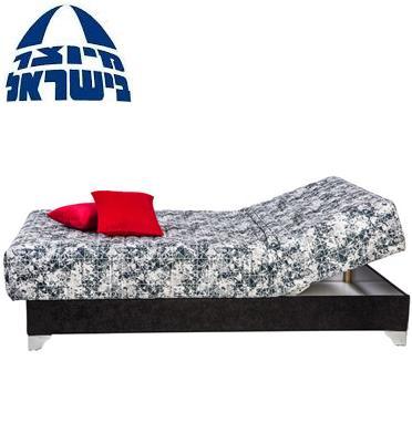 מיטת נוער יחיד אורטופדית כולל מזרון פוליניב עבה+ראש מתכוונן+ארגז מבית RAM DESIGN דגם אריסטוקרט