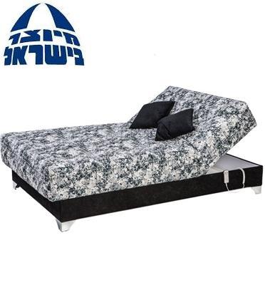 מיטת  וחצי חשמלית אורטופדית כולל מזרון פוליניב עבה בד יוקרתי מעוצב מבית RAM DESIGN דגם ג'וליאן