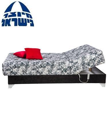 מיטת נוער יחיד חשמלית אורטופדית עם מזרון פוליניב עבה בד יוקרתי מעוצב מבית RAM DESIGN דגם יוניק