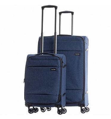"""סט 2 מזוודות טרולי עלייה למטוס 27"""" 19"""" מבית CALPAKS דגם  CASTLEGATE LCS3000"""