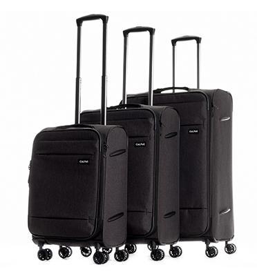 """סט 3 מזוודות טרולי עלייה למטוס 27"""" 23"""" 19"""" מבית CALPAKS דגם  CASTLEGATE LCS3000"""