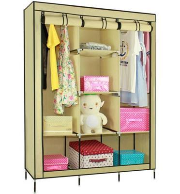 אין לכם מקום בארון?הפתרון בשבילכם!ארון אחסון קל וענק,מקום תליה כפול+8 מדפים מבית HOMAX דגם צורן