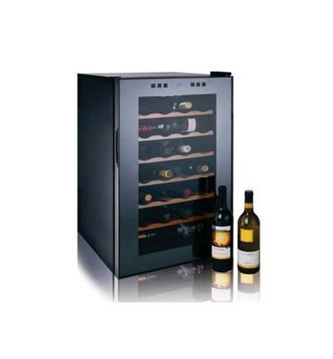 מקרר יין 28 בקבוקים מדפי עץ. תוצרת LANDERS דגם BCW70W