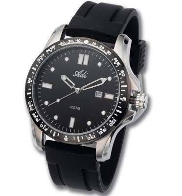 שעון יד ספורטיבי לגבר עשוי פלדת אל חלד עמיד במים עד 200M- אחריות לשנה מבית ADI דגם 21-2506-194