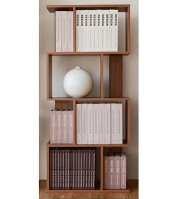 כוורת מעמד מדפים א-סימטרי מתאים לבית וגם למשרד עשוי MDF צבע חום אלון מבית BRADEX דגם RADO