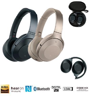 אוזניות דינמיות מרופדות BT, NFC עם מיקרופון מובנה ושליטה מלאה בנייד מבית SONY דגם MDR-1000X