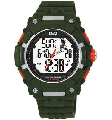 שעון יד אנלוגי דיגיטלי לגבר עם כל הפונקציות הדיגטליות ותאורה מבית Q&Q דגם QS-GW80J004Y
