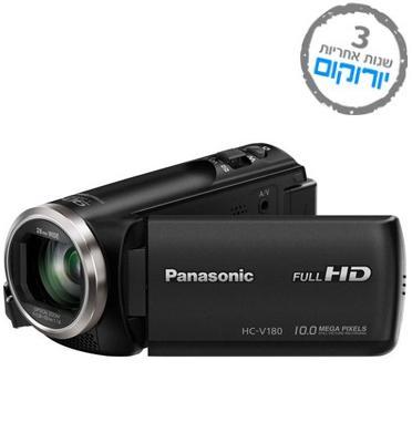 מצלמת וידאו FULL HD זום אופטי X50 ׁ(בזום חכם X90) כולל תיק + 8GB מבית PANASONIC דגם  HC-V180K