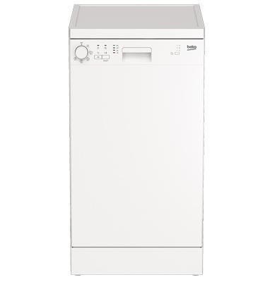 מדיח כלים צר ל- 10 מערכות כלים תוצרת BEKO. דגם DFS05010W