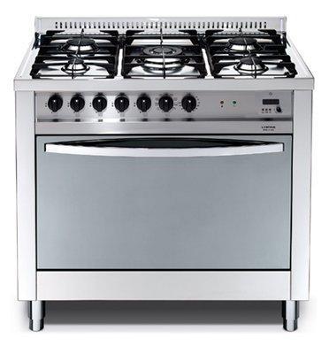 """תנור משולב כיריים בעיצוב תעשייתי ואלגנטי 90 ס""""מ גימור נירוסטה תוצרת LOFRA דגם MSG96MFT COOL"""