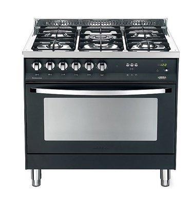 """תנור משולב כיריים ברוחב 90 ס""""מ בצבע שחור מט תוצרת LOFRA PROFESSIONAL דגם MSNMG96MFT/COOL"""