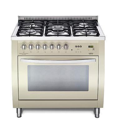 """תנור משולב כיריים רוחב 90 ס""""מ בצבע בז' תוצרת LOFRA CURVA דגם  CSBIG96MFT/COOL"""