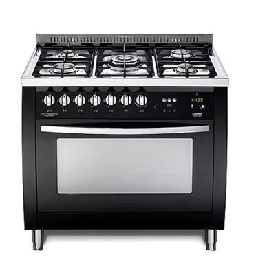 """תנור משולב כיריים ברוחב 90 ס""""מ צבע שחור מט תוצרת LOFRA CURVA  דגם CSNMG96MFT COOL"""