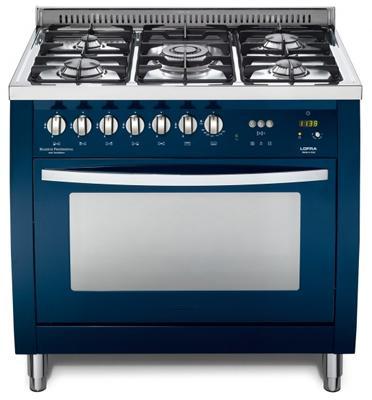 """תנור משולב כיריים ברוחב 90 ס""""מ בצבע כחול תוצרת LOFRA PROFESSIONAL דגם CSBLG96MFT COOL"""