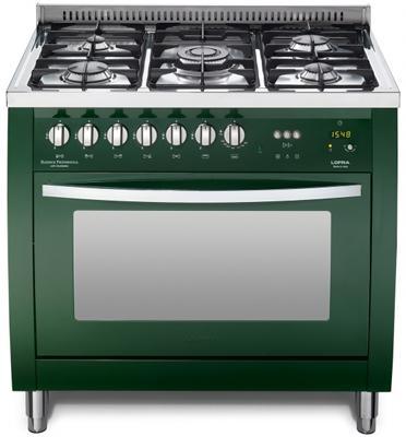 """תנור משולב כיריים ברוחב 90 ס""""מ בצבע ירוק תוצרת LOFRA PROFESSIONAL דגם CSVG96MFT COOL"""