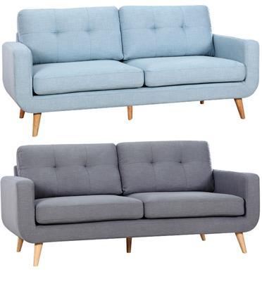 ספה מעוצבת תלת מושבית בריפוד בד איכותי מאוד מבית BRADEX דגם NIVA