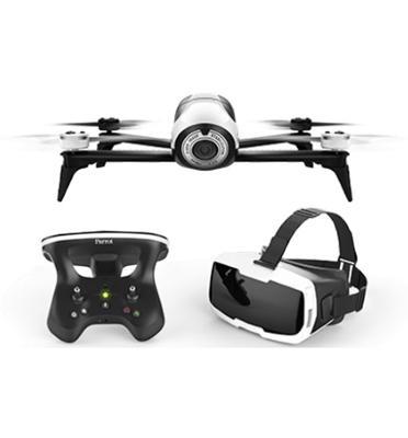 רחפן בקר שליטה ומשקפיים מצלמת 14MP והזרמת וידיאו בזמן אמת מבית Parrot דגם BeBop Drone FPV2