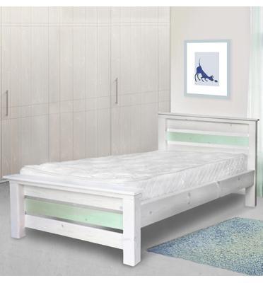 מיטת ילדים מעץ אורן מלא במידות 80/190  3 צבעים לבחירה כולל מזרן מבית אולימפיה