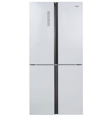 מקרר 4 דלתות בנפח 651 ליטר No Frost ציפוי זכוכית לבנה תוצרת .Haier דגם HRF620FW