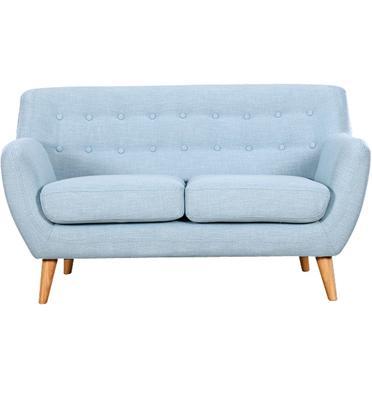 ספה דו-מושבית מעוצבת ישיבה נוחה מאוד, בד רך ונעים למגע שילדה מעץ מלא מבית BRADEX דגם PICASSO