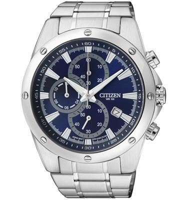 שעון יד כרונוגרף לגבר עשוי פלדת אל חלד ועמיד במים עד 100 מטר מבית CITIZEN דגם CI-AN353052L
