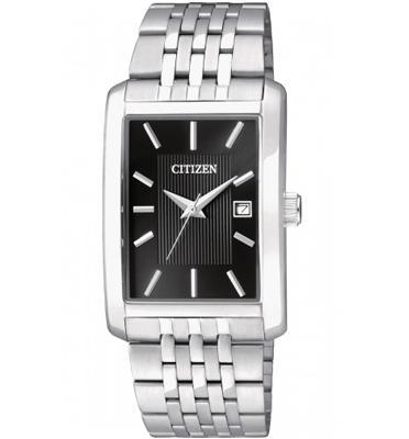 שעון יד אנלוגי לגבר עשוי פלדת אל חלד ועמיד במים עד 50 מטר מבית CITIZEN דגם CI-BH167155E
