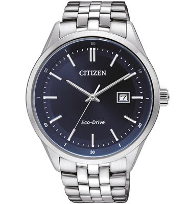 שעון יד סולארי לגבר מבית CITIZEN עשוי פלדת אל חלד ועמיד במים, ללא צורך בסוללה CI-BM725153L