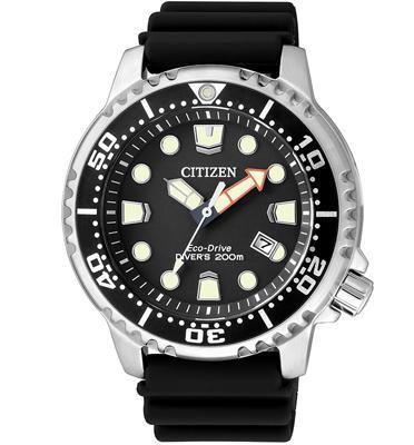 שעון צלילה לסולארי לגבר ללא צורך בסוללה עמיד במים עד 200 מטר מבית CITIZEN דגם CI-BN015010E