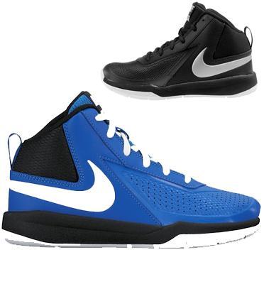 נעלי כדורסל לנוער עמידות וקלות משקל בולמי זעזועים וגפה גבוהה מבית NIKE דגם  Team Hustle