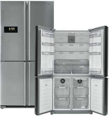 מקרר 4 דלתות 594 ליטר מפואר מקפיא תחתון NO FROST תוצרת SAUTER דגם SVR990IX