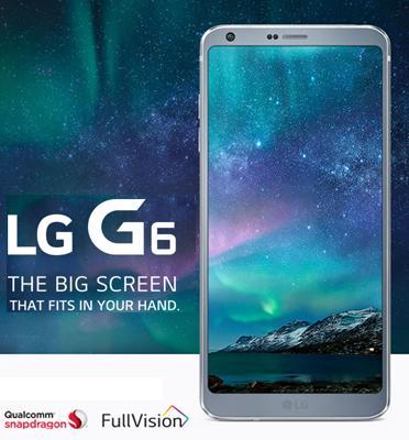 """סמארטפון 32GB מסך 5.7"""" מעבד המתקדם ביותר מצלמה כפולה 13MP דגם LG G6 H870"""