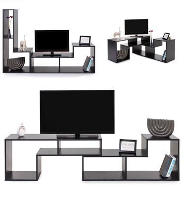 מזנון טלוויזיה מודולרי הכולל שני חלקים שאפשר להרכיבם לפי הצורך מבית BRADEX דגם TIVOLY