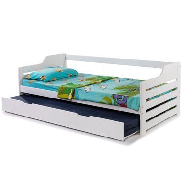 מיטת ילדים כולל מיטה עליונה, מזרנים אורתופדיים ומיטת חבר נשלפת מבית BRADEX דגם TUTTI