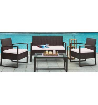 סט ריהוט גינה מושלם למרפסת או לגינה כולל: שולחן ושלוש כורסאות מבית Homax דגם קוסמוי