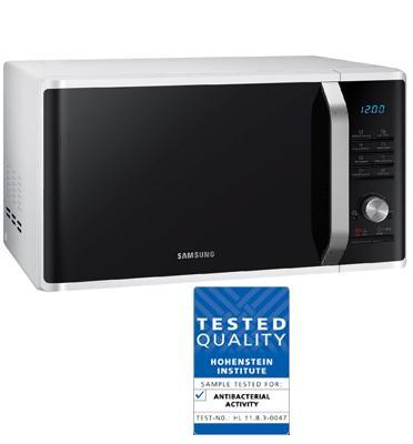 מיקרוגל שף בנפח 28 ליטר עם 16 תוכניות אוטומטיות לבישול בריא תוצרת Samsung דגם MS28J5215AW